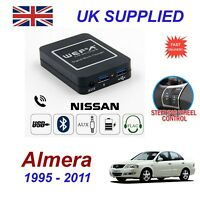 For Nissan Almera Music Streaming Bluetooth Telephone Charger SD AUX CD Module