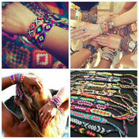 10x Friendship Handmade Bracelet Woven Rope Boho String Hippy Embroidery Jewelry