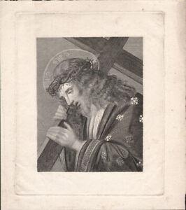 JESUS CHRIST BEARING THE CROSS * ORIGINAL ETCHING