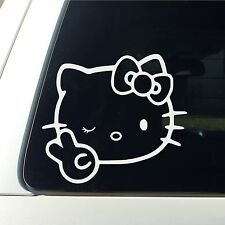 Hello Kitty Wink and peace Decal Sticker Cute Car window Lips  Flower ak47 new