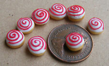 1:12 Scale 7 Red & White Cakes Dolls House Miniatures Bakery Cake Food PL27
