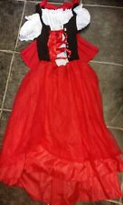 Ladies little red riding hood dress size 10-12 Costume fancy Dress