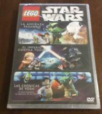 LEGO STAR WARS TRILOGIA AMENAZA PADAWAN IMPERIO CONTRA TODOS CRONICAS YODA DVD