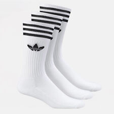 adidas Originals Solid Crew Socks 3PP Casual Running Gym Fitness White S21489