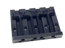 Black OMEGA Grooved Bass Bridge for Top Load Fender P/Jazz Bass® BB-3351-003