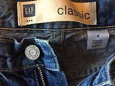 "Gap classic women's jeans 6 waist 24"" rise 11"" inseam 29.5"" zip fly medium wash"