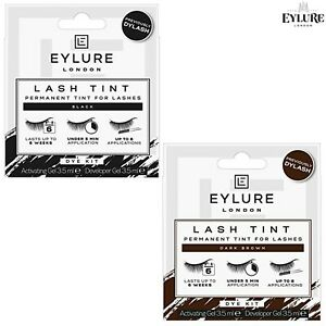 Eylure Lash Tint Dye Kit - Permanent Colour Tint for Eye Lashes + Long Lasting