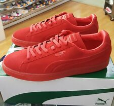 PUMA SUEDE EMBOSS ICED 361664 03 HIGH RISK RED MENS US SZ 11