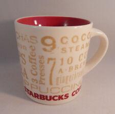 2008 Starbucks Mug 12 Days Of Christmas Holiday 14 Oz Red Inside