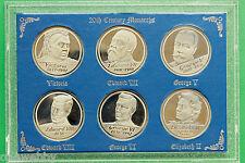Silver coloured 20th Century Monarchs medallions SNo39820