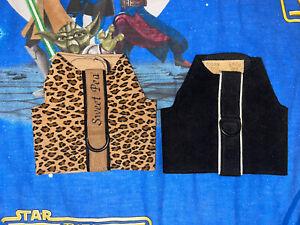Susan Lanci Designs Bailey Black & Cheetah Vest Harness Sz XXS