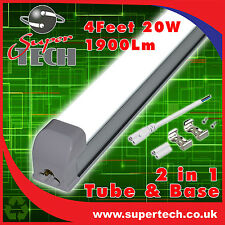 5 X 1200mm T8 20W LED SMD Integrated Tube Light Fluorescent Replacement 6000k