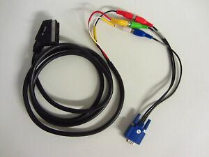 Scart auf 1 15pol S-VGA Monitor Stecker 2m Kabel Adapter
