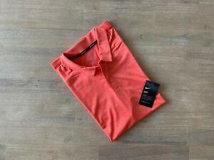 Nike Control Striped Golf Polo Standard Fit Mens Size M 942876 816 TW Woods