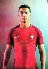 "CRISTIANO RONALDO ""WEARING PORTUGAL FOOTBALL JERSEY"" POSTER - Soccer / Football"
