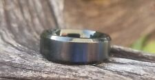 (Brushed) Size 7 - Preowned Black Stainless Steel Wedding Ring/Band