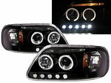 F250 LightDuty Pickup 1998-1999 Angel-Eye Projector Headlight Black for FORD LHD