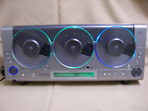 Emerson MS3106 Triple CD Player Linear 3 CD AM FM Wall Mount ONLY 1 CD WORKS !