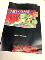 Super Nintendo SNES: Battle Clash [Instruction Book Manual ONLY] Booklet