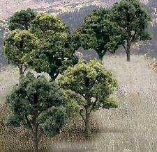 "Woodland Scenics [WOO] Ready Made Trees Mixed Green 3"" - 5"" (14) WOOTR1572"