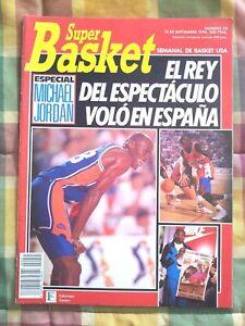 SUPERBASKET Magazine #45 MICHAEL JORDAN at Spanish All Star Game Cover & Poster!