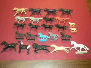 35 HORSES PLAYSET WESTERN MEDIEVAL MARX MPC 1950's/1960's? LOT