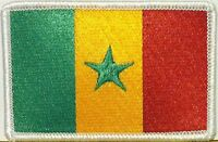 SENEGAL Flag Embroidered Iron-On Patch Military West Africa Emblem White Border