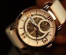 Invicta Womens Objet d'Art Rose Gold Tone Automatic Skeletonized Dial Watch