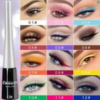 13 Colorful Neon Eyeliner Pencil Green White Matte Liquid Waterproof Makeup