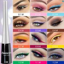 Eyeliner Pencil Neon Green White Matte Liquid Waterproof Makeup 13 Colorful