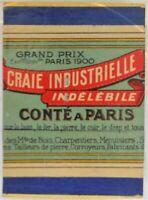 RARE boite 12 CRAIE INDUSTRIELLE conté à PARIS bleue