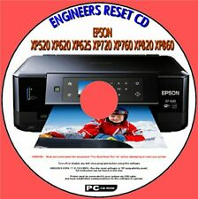 EPSON XP520 XP620 XP720 XP760 XP860 PRINTER WASTE INK PAD END OF LIFE RESET CD