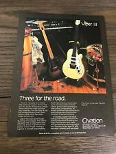 1979 8X11 PRINT Ad for OVATION THE VIPER III ELECTRIC GUITARS THREE FOR THE ROAD