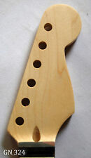 Antonio-Dot Inlay Handmade-Solidwood Maple Electric Scalloped Guitar Neck GN324