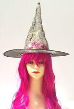 CAPPELLO STREGA HALLOWEEN BEFANA TRASPARENTE nero - witch hat