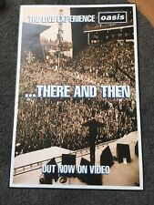 Oasis - There And Then Original Uk Promo Poster