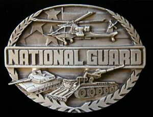 NATIONAL GUARD BELT BUCKLE FINE DETAIL NEW! BUCKLES