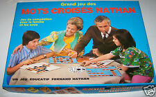 @ GRAND JEU DES MOTS CROISES NATHAN, JEU EDUCATIF DE LETTRES MOTS, RETRO VINTAGE