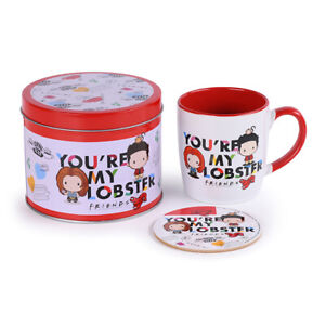 FRIENDS (YOU'RE MY LOBSTER - CHIBI) MUG & COASTER IN A TIN GIFT SET