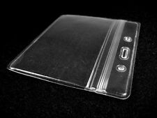Lot of 10 Horizontal Transparent Vinyl Plastic ID Card Badge Holder With Zipper