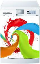 Sticker lave vaisselle déco cuisine électroménager Panache couleurs  715 60x60cm