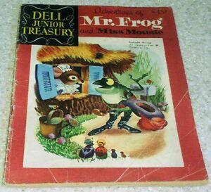 Dell Junior Treasury: Adventures of Mr. Frog 4 , VG (4.0) 1956, 50% off Guide!