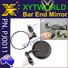 "Universal Black Handle Bar End Rear Side view Mirrors 7/8"" 22mm Motorcycle bike"
