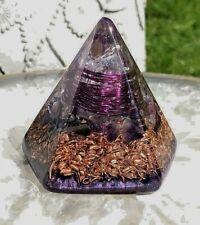 Powerful (Mini - 2.25 x 2.25 inches) Orgone Orgonite® Pyramid - Quartz/Amethyst