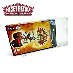 Schutzhüllen für Gamecube Spiele in OVP 0,5 mm game protectors Box cases Folie