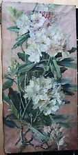 """Tableau ancien HST """"Branche de fleurs"""" Anonyme"""