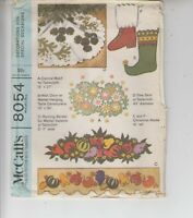 McCall's 8054 Felt Appliques Vintage Christmas Holiday 1965 Sewing Pattern Uncut