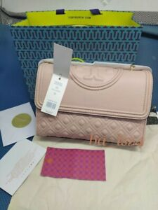 TORY BURCH Authentic Large Fleming Convertible Shoulder Bag NWT43833 SHELL PINK