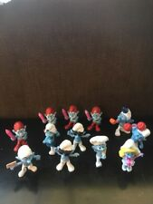 12 Lot SMURF Figures McDonalds Happy Meal Toys 2011 & 2013 Set Cake Topper CLEAN