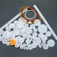80Pcs Plastic DIY Robot Gear Set Single Double Layer Sleev Axle R3P1 Crown F7E4